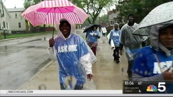 Despite Rain, Peace March on South Side Draws Crowd