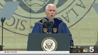 Students Walkout During Pence Graduation Speech