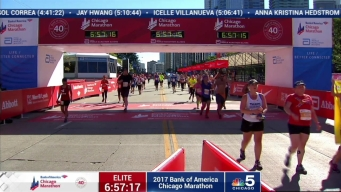 2017 Bank of America Chicago Marathon Finish: 6:54:38
