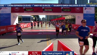 2017 Bank of America Chicago Marathon Finish: 7:24:20
