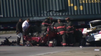 RAW: Aftermath of Crash Involving Semi in North Aurora