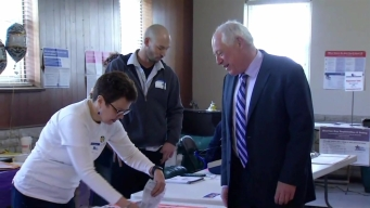 Quinn Votes on Illinois Primary Election Day