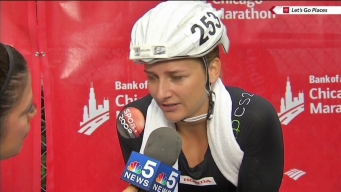 """I Feel Really Happy:' Schar Wins Women's Wheelchair Race"