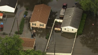 Sky 5 Footage Shows Major Flooding in Steger