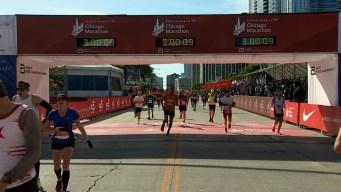 2019 Bank of America Chicago Marathon Finish Line Cam 4