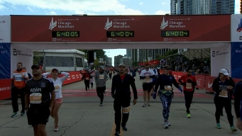 2019 Bank of America Chicago Marathon Finish Line Cam 26