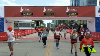 2019 Bank of America Chicago Marathon Finish Line Cam 27