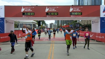 2019 Bank of America Chicago Marathon Finish Line Cam 29