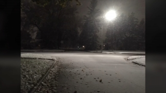 October Snow Blankets Chicago Suburbs