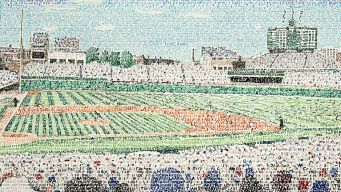 Artist Captures Wrigley Field in Stunning Image
