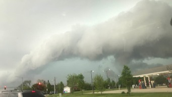 1st Wave of Storms Rolls Through Area