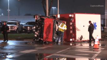 3 Hospitalized After Ambulance Crash in Naperville