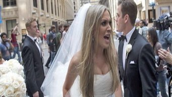Wedding Party Swarmed by Protesters
