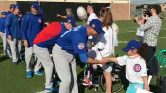 Kids Treated to Spring Training Trip Reunited With Cubs