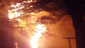 Footage: Two-Story Apartment Building Fire in Hegewisch
