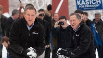 WATCH: John Kasich's Snow Day in N.H.