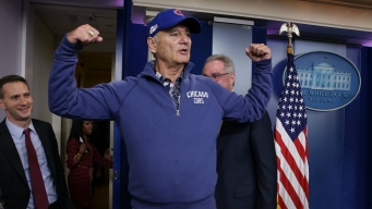 Bill Murray Crashes White House Press Briefing to Talk Cubs