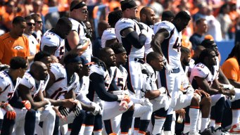 NFL Players Protest After Trump Calls for Firings, Boycott