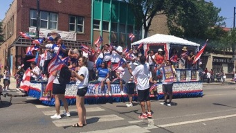 Puerto Rican Parade Steps Off Following Hurricane Maria