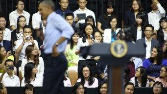 Female Vietnamese Rapper Rhymes for Obama