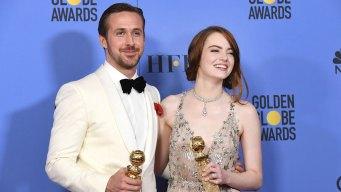 La La Landslide: Emma Stone, Ryan Gosling Win Big at Globes