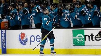 Joe Pavelski, Sharks Throttle Blackhawks
