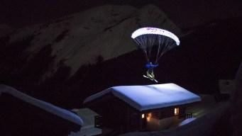 Incredible Footage: Speedriding a Glacier Under Moonlight