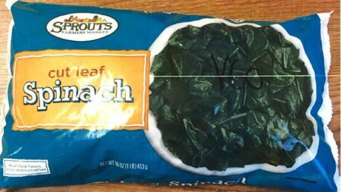 Sprouts Recalls Frozen, Cut Leaf Spinach