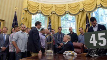 Trump Welcomes World Series Champion Cubs to White House