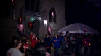 Friends, Family Release Balloons at Vigil For Murdered Woman