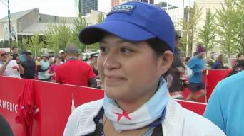 'Counting on Him to Run With': Officer's Widow Runs Marathon