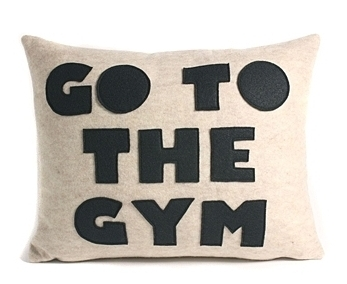 Go the Gym Pillow
