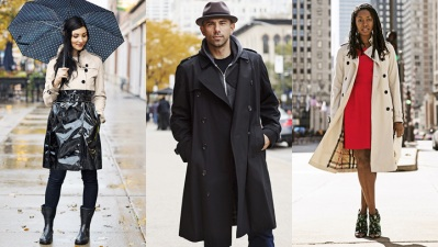 Burberry Unleashes Trench Coats on Chicago