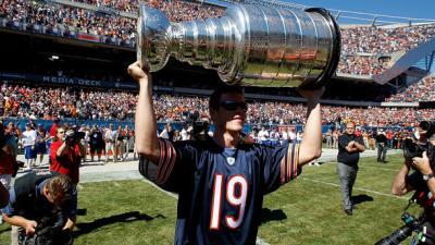 Kane, Toews Among Blackhawks At Bears' Opener