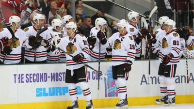 Blackhawks Blast Stars in 6-2 Blowout Win
