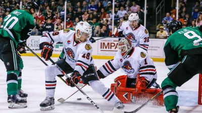 IceHogs Fall to Stars in Game 1