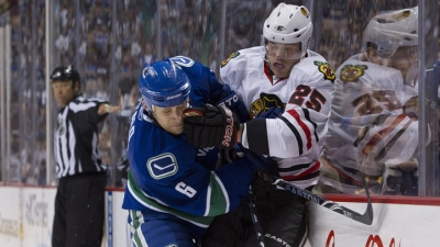 Hawks Scoreless in Game 1 Against Canucks