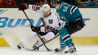 Sharks Slip Past Hawks 2-1 in Shootout