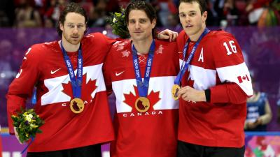 Video: Toews, Team Canada Celebrate Gold Medal Win