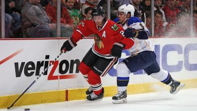 Blackhawks Blast Blues 4-0