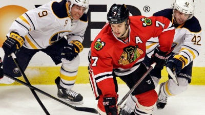 Hawks Top Sabres at Home