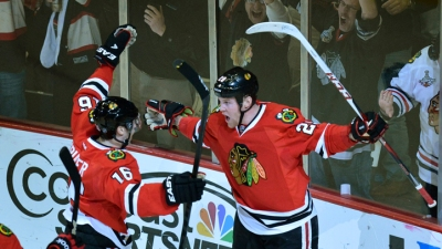 Blackhawks Tame Wild 3-2 in Shootout