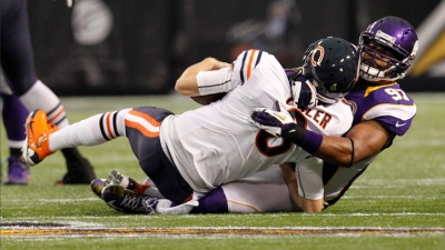 Bears Can't Stop Slide in 21-14 Loss to Vikings