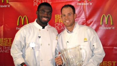 Gould, Bennett Fry Each Other in McDonald's Challenge