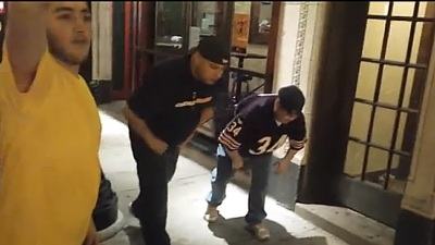 VIDEO: Race Between Bears Fans Ends Abruptly