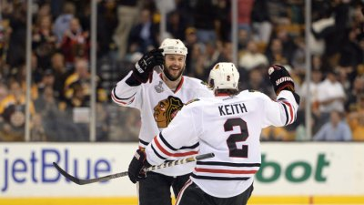 Blackhawks Beat Bruins in OT