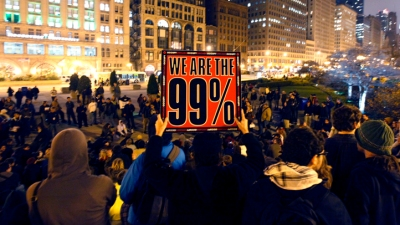 Occupy Chicago 'Mic Checks' Ald. Joe Moore