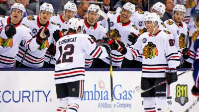Kane Scores Twice as Blackhawks Beat Blue Jackets
