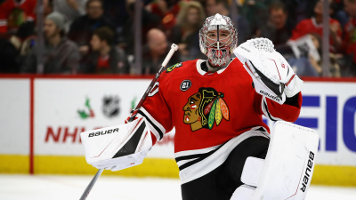 Cam Ward Out, Collin Delia Called Up by Blackhawks