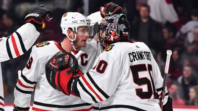 Corey Crawford Named as Nominee for Masterton Trophy